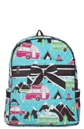 Quilted Backpack-CMP2828/BR