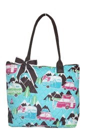 Small Quilted Tote Bag-CMP1515/BR