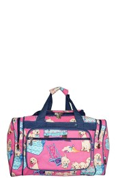 Printed Duffle Bag-DGQ417/NV