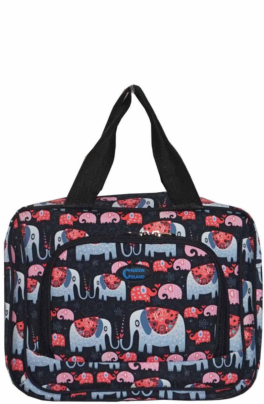 c6b7ff6b17 Printed Duffle Bag-2514 B001 BK ELEPHANT