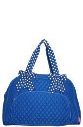 Quilted Duffle Bag-TW841/ROY/WH